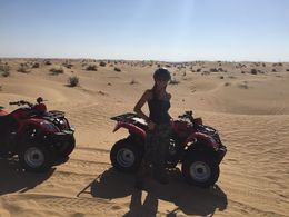 Reaching sand bording site in quad bikes , melissasal - April 2015