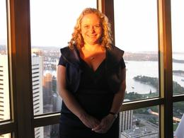 Photo op at the Sydney Tower Restaurant, Undercover Américan - October 2010