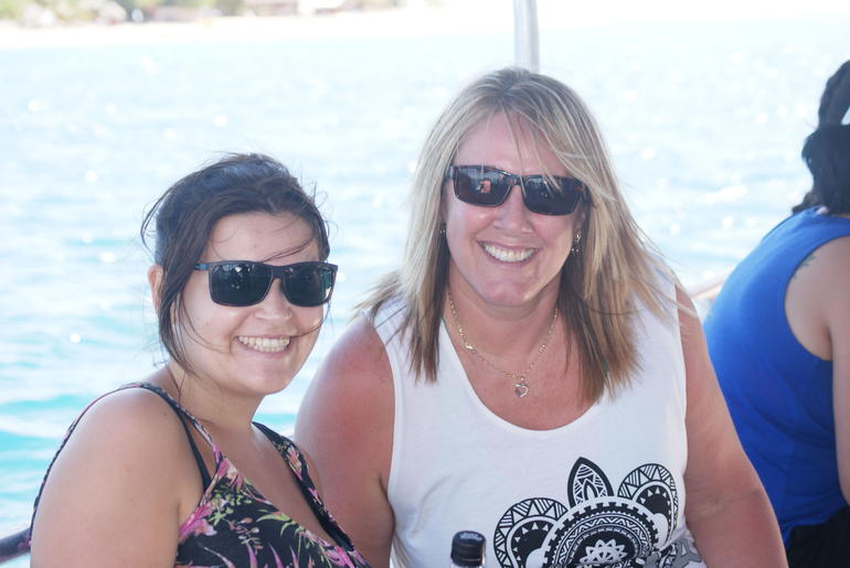 Tanja and Me on the boat over from Denerau - Nadi