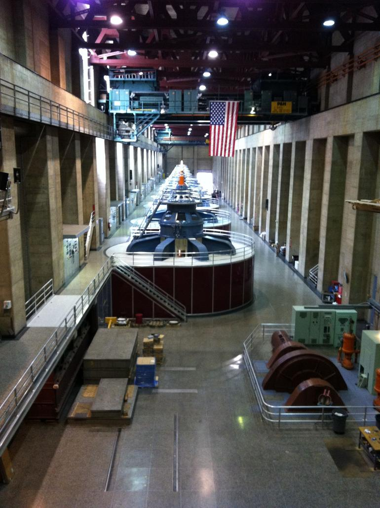 The Turbines Generators at Hoover Dam. - Las Vegas