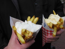 For Some Reason the last photo I uploaded was from my Cruise not the Awesome Fries. So these are the Awesome Fries. Ask for half sauce if you do not like a lot. , Emily Fern Webb J - November 2015