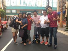from L-R, my daughter, mother, wife son 1, me and son 2 - Universal Studios , FLORANTE A - January 2017