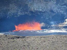 Lava lake at the lookout on Kilauea! , Onni H - June 2017