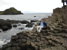 My husband having a photo op at the Giant Causeway. It really amazes me how geometric the rock patterns were. It was unbelievable. , Dahlia M - August 2013