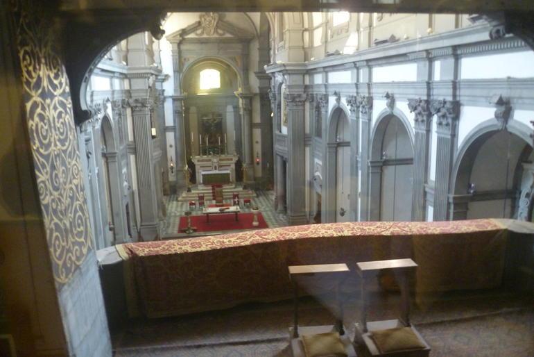 Corridor de Vasari : La chapelle - Florence