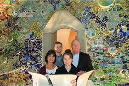 My family stepped out on the balcony on the upper floor of Casa Batllo and captured a great memory of this tour! , Charles F. M - February 2015