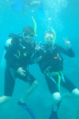 My dive buddy and me. , Michiel M - April 2014