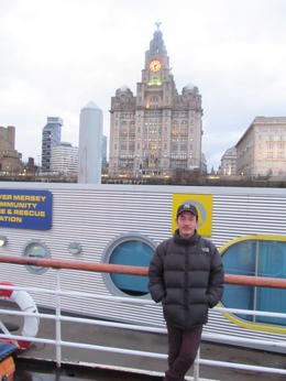 taking photo while in ferry in Merseyside evening ride , bishwo - March 2013