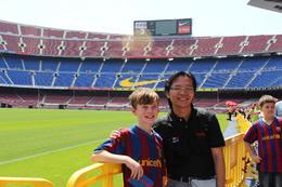 Meet a superfan of FC Barcelona. , Chan KW & SM San - July 2011