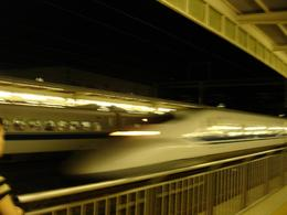 Shinkansen (bullet train) at Odawara Station., Ashish S - October 2007