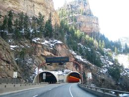 Driving through a Rocky Mountain tunnel on Interstate 70, west of Denver , Leah - May 2011