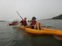 Kayaking on open water - May 2012