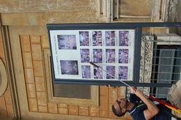 Nicolas le guide nous explique les peintures de la chapelle sixtine à l'exterieur , Yolande L - June 2015