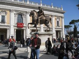 My buddy on Segway in Michelangelo's scenic Piazza del Campidoglio. - March 2010
