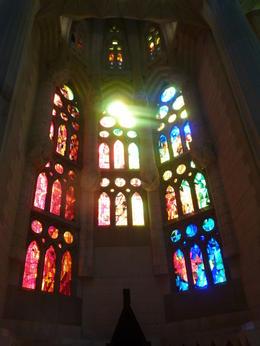 Stained glass in the Sagrada Famila , TranceTraveller - September 2012