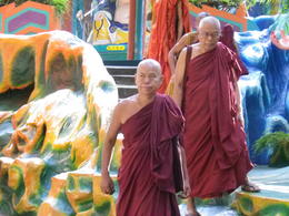 Buddhist Monks in Haw Par Villa , Marcia G - July 2011