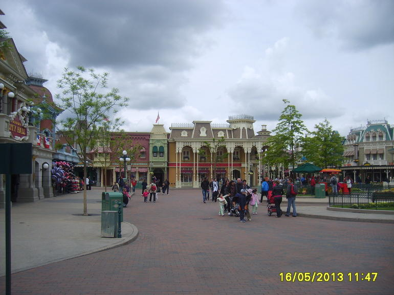 the main street in Euro Disney - Paris