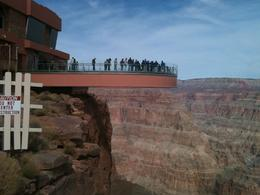 A view of the Skywalk from the edge of the canyon. , mssmel691 - February 2012