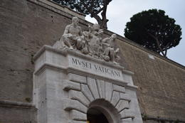 Vatican Museum entrance where the tour begins , Jennifer G - October 2014