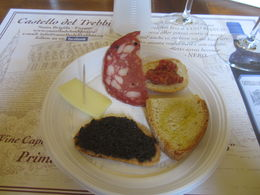The tasty plate of appetizers at the wine tasting. , William W - July 2015