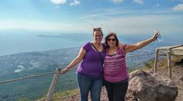 Me and my daughter at the top of the volcano... Mt. Vesuvius. , Jan - March 2017