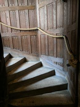 Inside Leeds Castle, uneven stairs to navigate. , Sharon G - June 2017