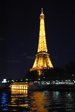 The Tower on our return Seine River Cruise. , NZM - May 2012