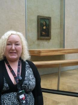 my mum infront of the mona lisa., Judith C - January 2010