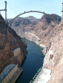 Colorado River running under the construction site of the new bridge., Jeannine C - September 2009