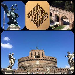 Illuminatis diamant - Rundturen avslutas vid Castel Sant' Angelo med en titt på Berninis alla änglar, samt il passeto passagen direkt in till Vatikanen , Maria NÖ - September 2015