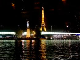 The Eiffel Tower and a replica of The Statue of Liberty. , Zadry F - October 2015