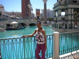 Me standing in front where the gondola's take place., Jasmine .T - April 2009