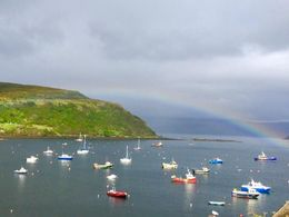 We didn't see a lot of sun, but when we did Portree harbor was beautiful , MaryAnne - September 2015