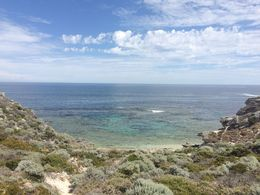 Bend in the road near lighthouse on Rottnest. Climbed down to swim. , Jason B - January 2016