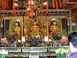 Temple at Giant Buddha, Lantau, on tour by Anthony Partridge, Anthony P - December 2009