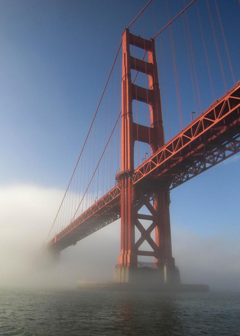 The Golden Gate Bridge emerging from the mist - San Francisco