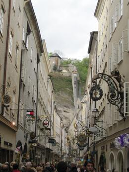 The quaint packed streets of Salzburg are a tourist and shoppers paradise., Brian H - May 2009