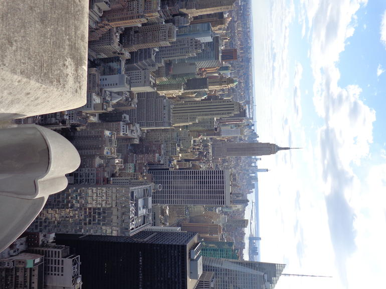 Top views from Top of the Rock included in Top Hop on Hop off Tour - New York City