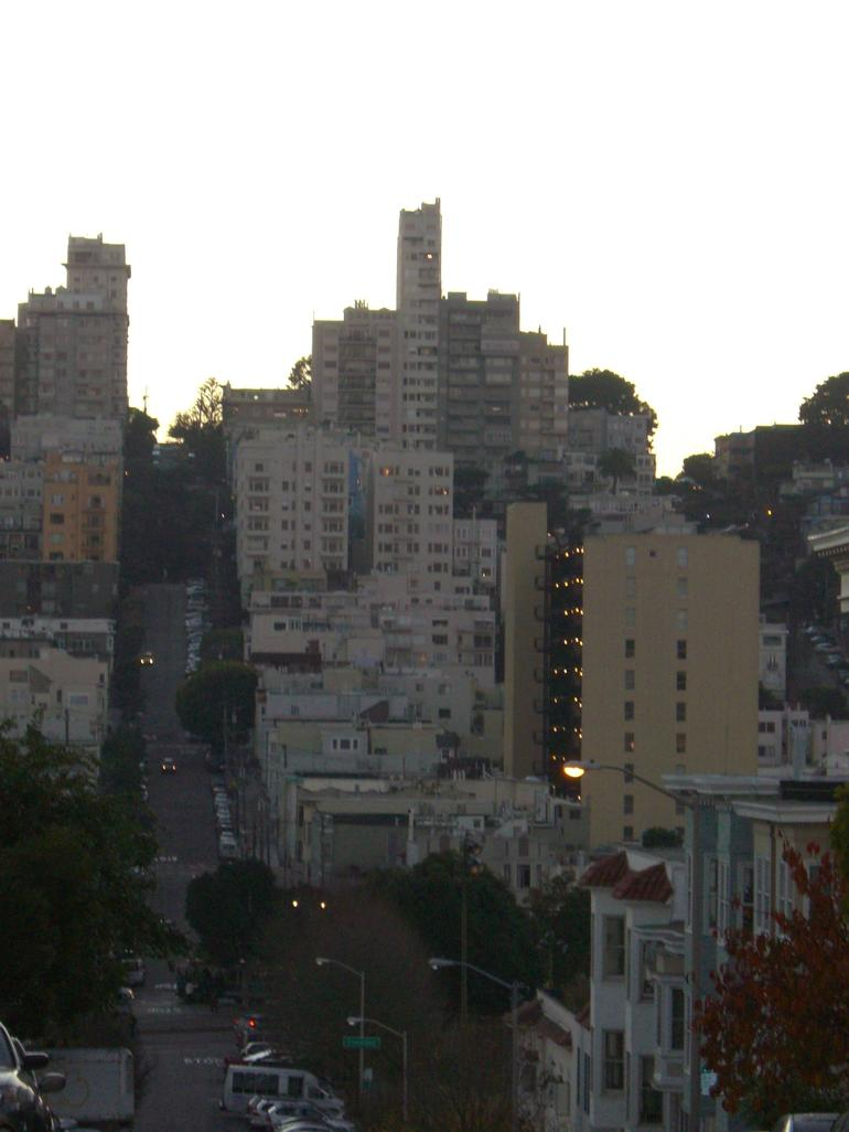 View of hills above North Beach - San Francisco