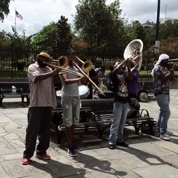 Band playing at Jackson Square , Sybil S - September 2017
