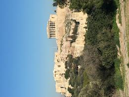 Acropolis view from atop the Hill of the Muses stop 4 , Rachael D - January 2018