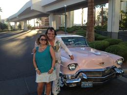 Enjoying a photo op with the pink caddy and Eddie! , rhonda a - October 2014