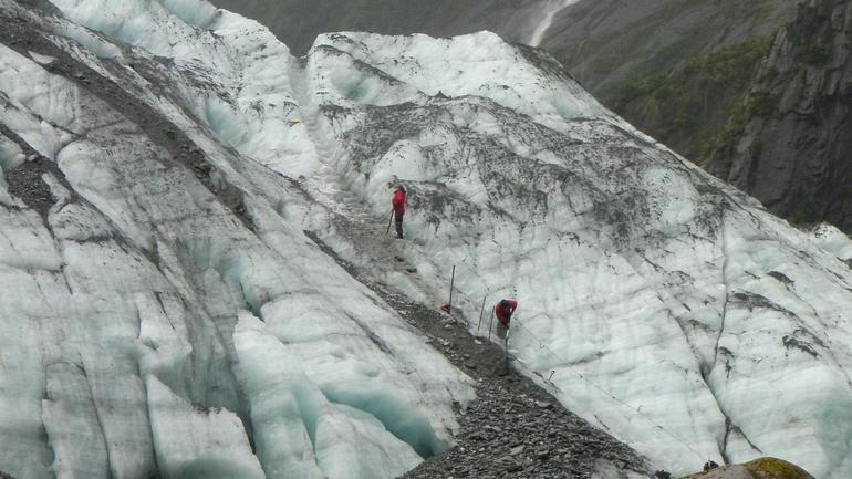 Guides preparing the track - Franz Josef & Fox Glacier