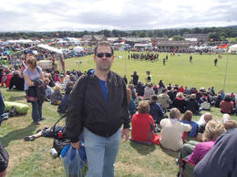 Me at Crieff for the Highland Games (18Aug). nice weather and the city was also nice! , Gilvam - September 2013