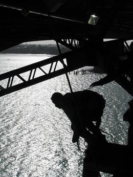 Beautiful silhouette of my husband right as he jumped - June 2010