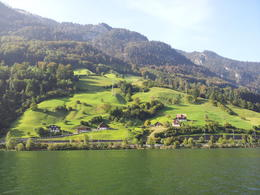 After our descent from Mount Pilatus via the cogwheel train, we took a ferry across scenic Lake Lucerne! Switzerland is beautiful and green! , Hande B. - October 2011