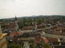 View of the town of Melk from the Abbey , Nigel J L B - April 2014
