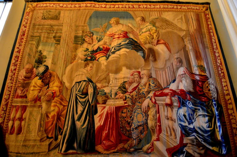 One of the many Beautiful tapestry's - Rome