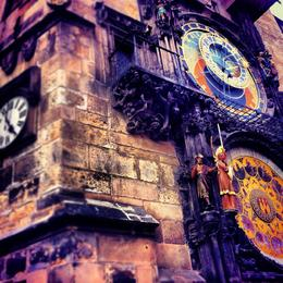 Astronomical clock, Ryan & Asha - April 2013