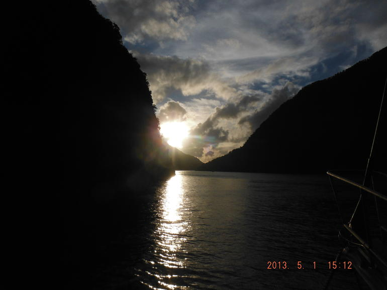 Sunset on Milford Sound - Fiordland & Milford Sound